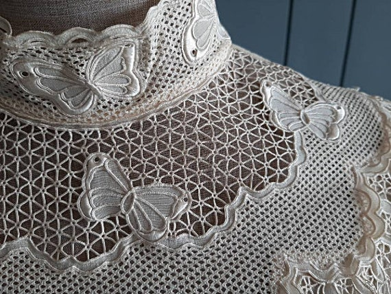 Victorian Silk Blouse Vintage Silk Blouse - Ivory… - image 3