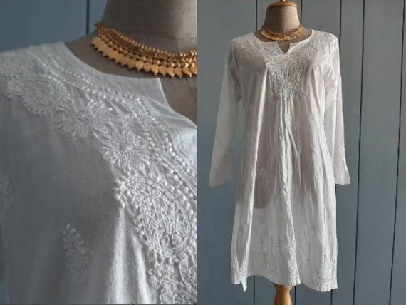 M - Vintage Indian Cotton Top -  Boho - Hippie - G