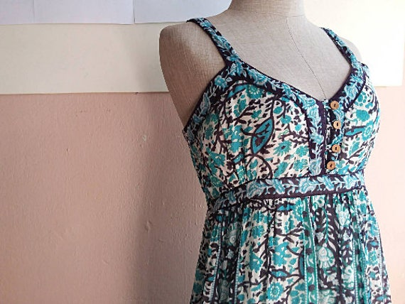 S - Summer Maxi Dress - 90s Boho Maxi Dress - Indi