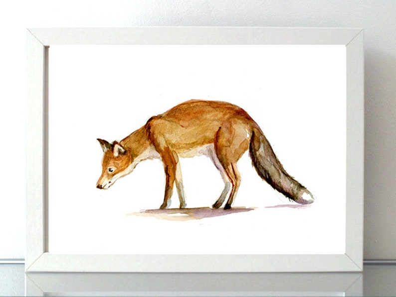 Uitgelezene Vos aquarel Print Vos Schilderij Tekening vos vos | Etsy KZ-47