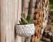 Hanging Planter, Ceramic Planter, Stoneware Pottery, White Planter, Succulent Planter, Cactus Planter, White Vase, Handmade Planter, Plants