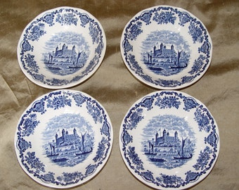 Wedgewood Royal Homes of Britain Small Cereal/ Soup  Bowls- set of 4