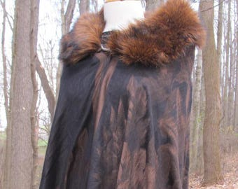 Beautiful Vintage Looking Shawl with faux fur