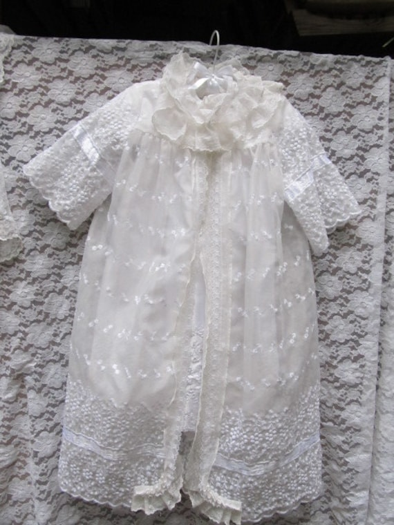 Antique Christening/Baptism Embroidered Coat