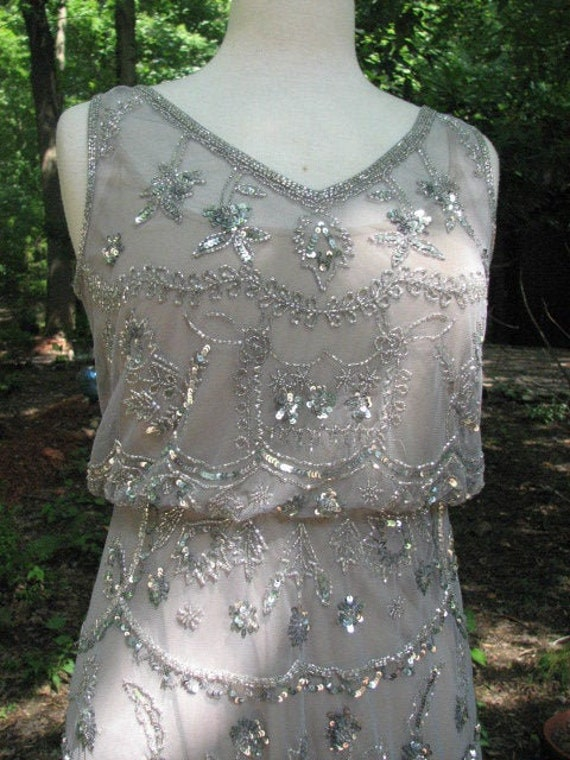 Beautiful Lavender Beaded Dress