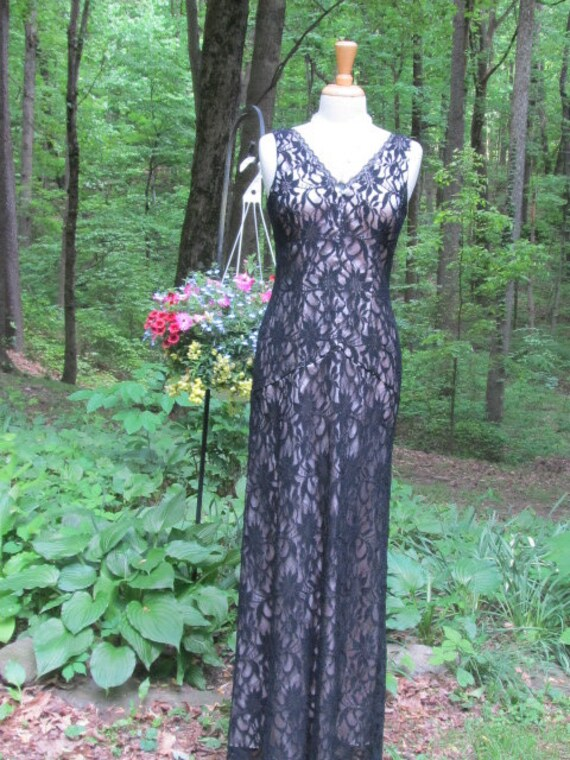 SALE - Adrian Papell Black Lace Dress
