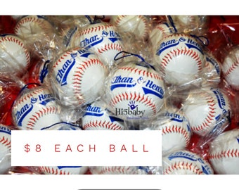 Personalized baseballs/baseball favors/t-ball favors/team favors/baseball party favors/baseball season favors/baseball fans/balls/ sports