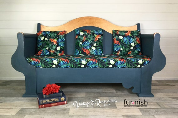 Enjoyable Blue Sofa Living Room Furniture Free Delivery Seating Pine Blue Green Red Sofa Tropical Print Dining Room Bench Annie Sloan Aubusson Bralicious Painted Fabric Chair Ideas Braliciousco