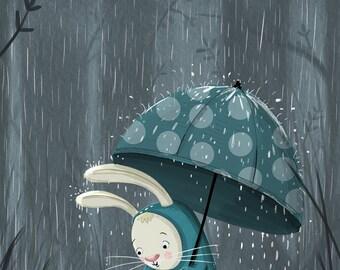 Rainy Rabbit
