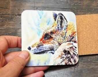 Fox coaster British Wildlife with matching card