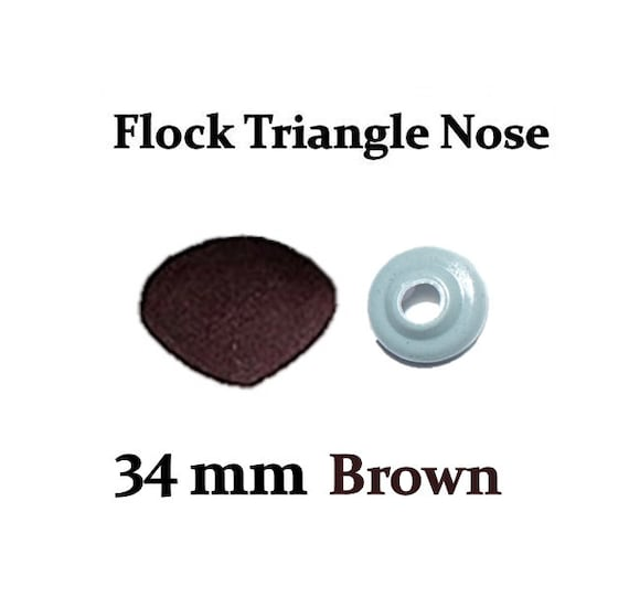 18mm Brown Fuzzy Flock Nose with Safety Washer for Teddy Bears /& Stuffed Toys