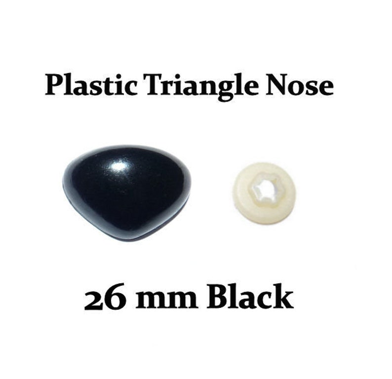 26 mm Black Plastic Nose with Safety Washer for Stuffed Toys