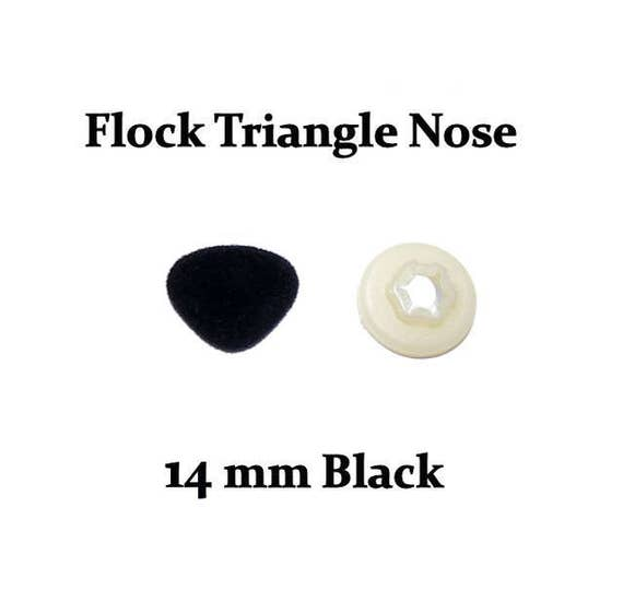 Safety Animal Doll Nose WWBZ12 60 Pieces 11mm Brown Fuzzy Flock Nose Teddy Bear Nose Come With 60 pieces Washers