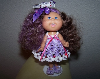 Cpk cabbage patch kid lil sprouts doll 5 vinyl african american.