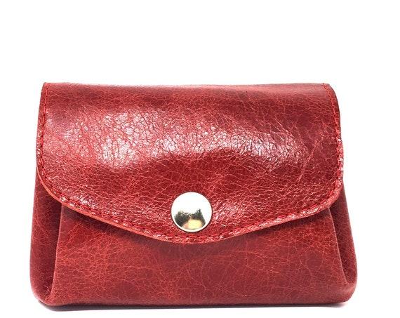 Rotes Lederportemonnaie
