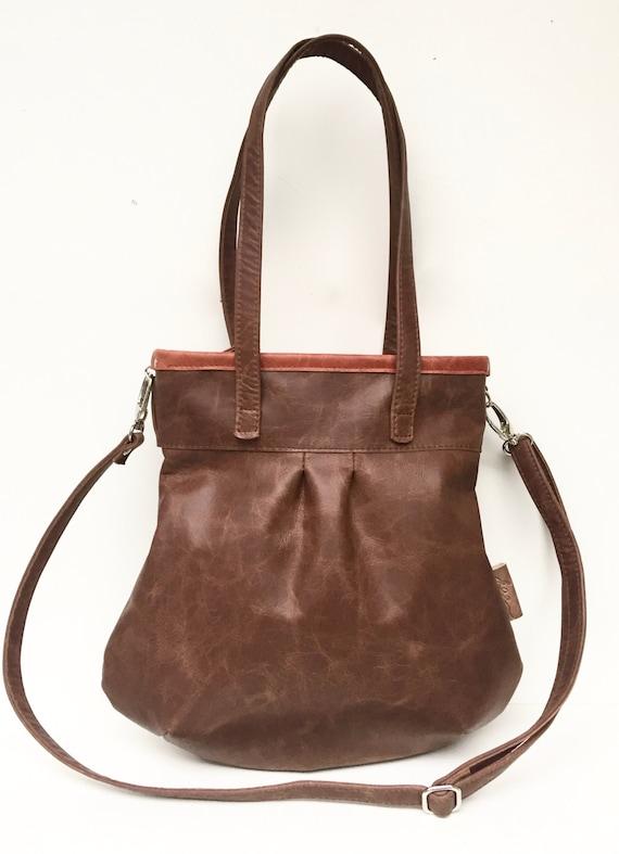 """Leather handbag , Leather Bag brown"""" SHELLY BAG """" CACAO"""