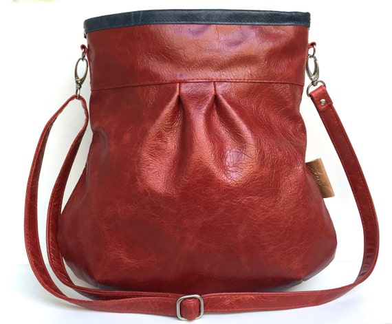 Red leather bag,red leather tote bag,red tote, large leather tote,tote bag red