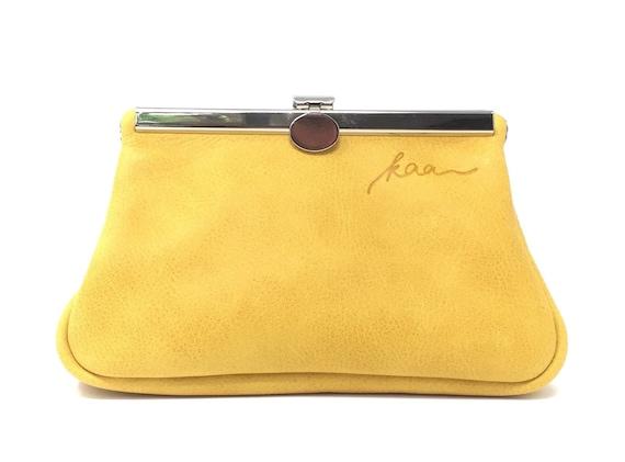 "Leather cosmetic bag, "" SAFRAN "" ,cosmetic purse,kaa berlin , makeup bag, Clutch Bag, Brown"