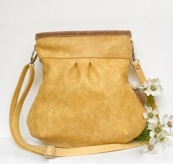 yellow leather bag, yellow leather tote bag, yellow tote, large leather tote,tote bag yellow