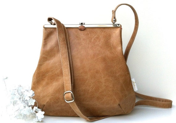 "berlin leather bag ""CARAMELL"" Kaa"