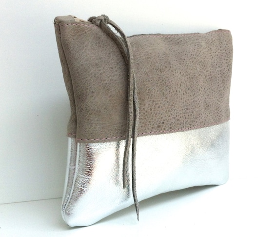 """Leather case """"STONE/SILVER"""""""