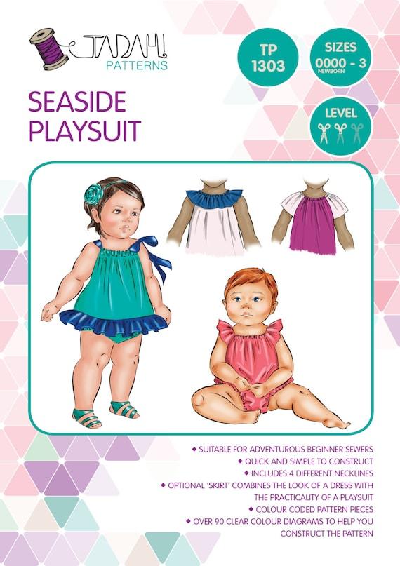 PATTERN Seaside Playsuit/Romper/Sunsuit PDF Sewing Pattern