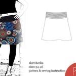 Womens Skirt Patternsewing, pattern skirt, ebook, sewing pattern, PDF,