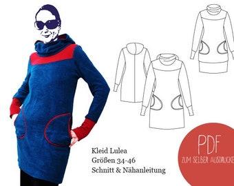Schnittmuster Jerseykleid Lulea, ebook Jerseykleid, PDF, ebook, Damen, Schnittbox