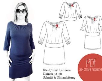 Schnittmuster Kleid La Fiora, ebook Kleid La Fiora, Kleiderschnitt, PDF, ebook, Schnittbox