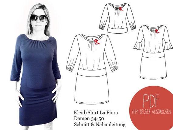 Schnittmuster Kleid La Fiora ebook Kleid La Fiora | Etsy
