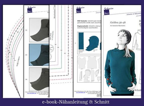 Schnittmuster Hoodie Luzia, ebook Hoody Luzia, Hoody, Damenhoody, PDF, Schnittmuster,
