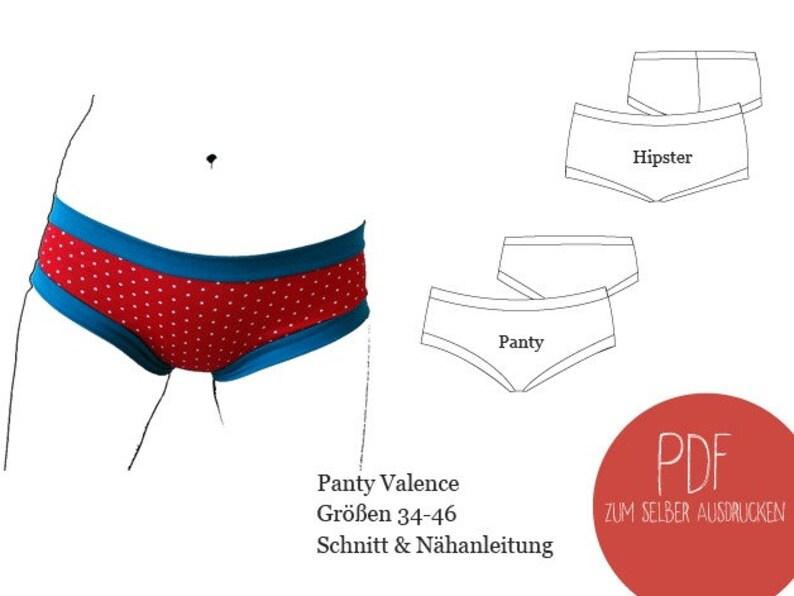 Schnittmuster Unterwäsche Panty Valence ebook Panty Panty image 0