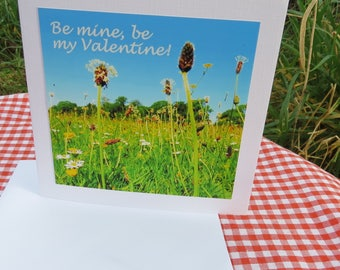 Valentine Card.  Blank inside for your own message.  Love Card.
