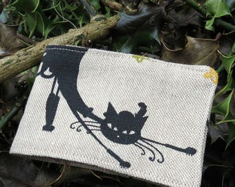 Travelcard Sleeve.  Oyster Card Holder.  Cats design.