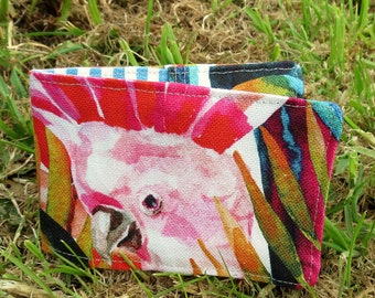 Oyster card holder. Travelcard Sleeve. A card holder with a tropical design.