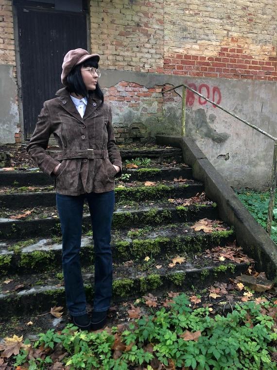 Vintage women's brown SPLENDIDO real leather jacke