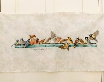 Marjolein Bastin Handmade Cross Stitch Feeding Board Winter Birds Ready to Frame Vintage Cross Stitch