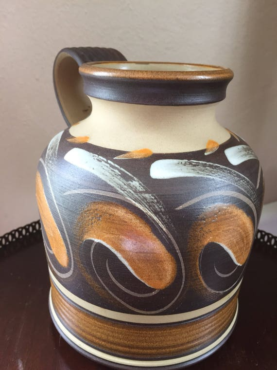 Vintage Denby Savannah Handled Vase Made In England Glyn Etsy