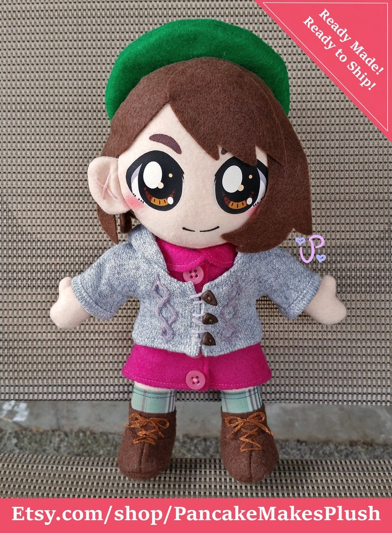 Pokemon Sword Female Trainer 8 Inch Plush Doll Fanart