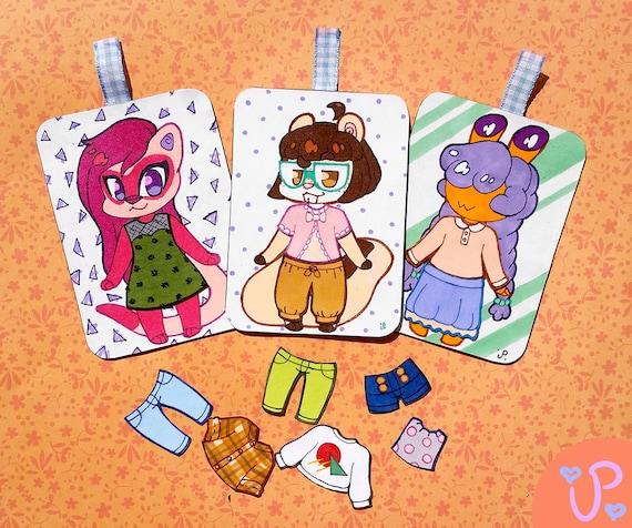 Custom Magnetic Paper Doll Badge