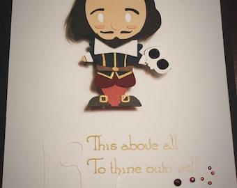 William Shakespeare paper portrait