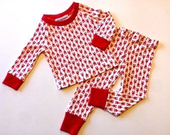 Lobster Long Sleeve Pajamas, Lobster Pjs, Kids Jammies, nautical Pjs, Lobster PJs, Kids PJs, 100% cotton,