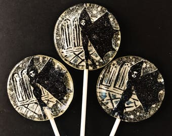 3 Les Vampires 1915 Vintage Halloween Favors Lollipops