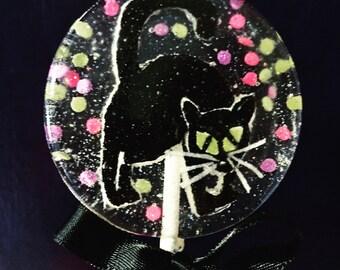 3 Screeching Black Cat Caramel Flavored Halloween Lollipops