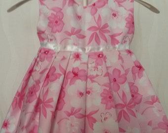Beautiful Pink Floral Cotton Dress