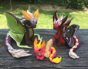MADE TO ORDER: Moth Dragon Sculptures