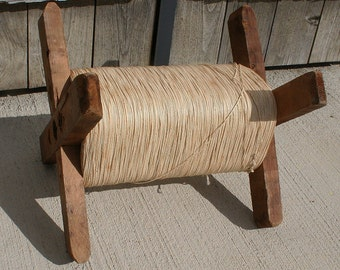 Rope Winder Amish Decor Vintage Wooden Spool Winder Rope Spool Unique Project Piece Perfectly Primitive