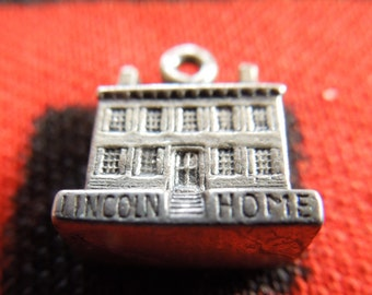 Sterling Lincoln Home Charm Sterling Silver Abraham Lincoln's Springfield House Charm for Bracelet from Charmhuntress 04294
