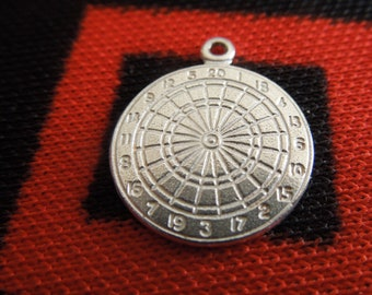 Roulette Wheel With Nevada Tag Sterling Silver Vintage Charm For Bracelet