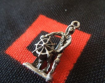 Detailed Ship Captain Riverboat Captain Charm for Bracelet from Charmhuntress 01363